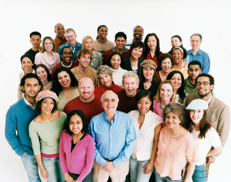 dv1954038_Elevated_Studio_Shot_of_a_Large_Mixed_Age_Multiethnic_Crowd_of_Men_and_Women