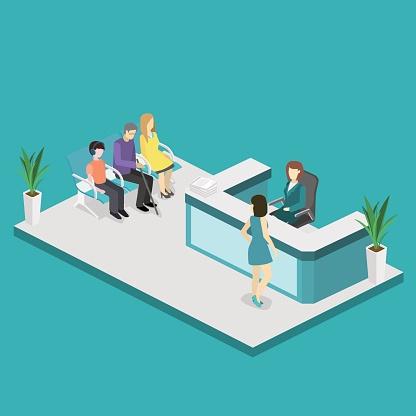 illustration of a dental office