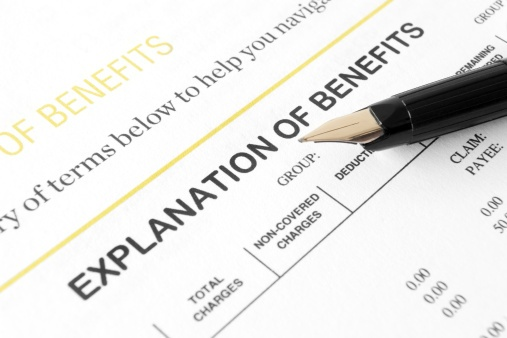 Explanation of benefits, EOB, dental insurance, vision insurance, oral and vision health