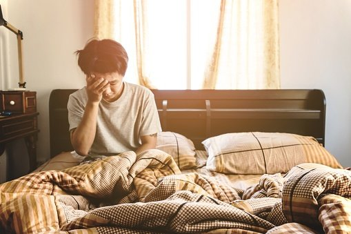 ThinkstockPhotos-512898186 Blurred guy just waking up in the morning selective focus