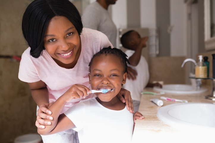 What is the ideal oral health routine for kids